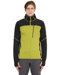 Mountain Hardwear | Green Desna Grid Hooded Fleece Jacket for Men | Lyst
