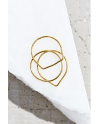 Urban Outfitters - Metallic 18k Gold Plated Layering Ring Set - Lyst