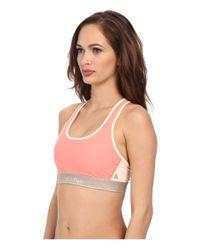 Calvin Klein - Pink Calvin Klein Pulse Racerback Sports Bra - Lyst