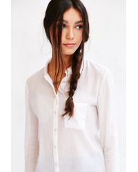 BDG | White Karina Button-down Shirt | Lyst