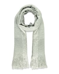 Forever 21 - Gray Fringed Plaid-patterned Scarf - Lyst