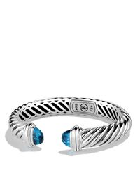 David Yurman | Metallic Waverly Bracelet With Blue Topaz | Lyst