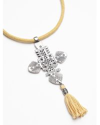 Free People - Yellow Womens Crest Pendant - Lyst