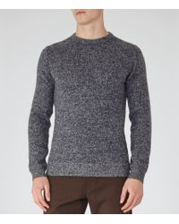 Reiss | Gray Mckay Melange Wool Jumper for Men | Lyst