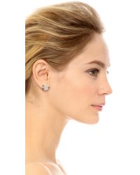 Katie Rowland | Natural Dark Moon Stud Earrings - Moonstone | Lyst