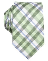Perry Ellis | Green Dorsey Plaid Slim Tie for Men | Lyst