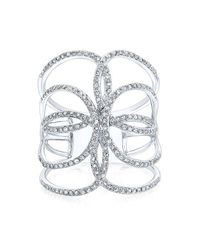 Anne Sisteron | 14kt White Gold Diamond Butterfly Ring | Lyst
