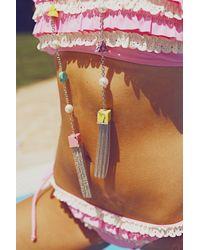 Eshvi - Multicolor Back To School Marble Tassel Necklace - Lyst