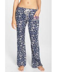 Lucky Brand | Blue 'boho' Print Lounge Pants | Lyst