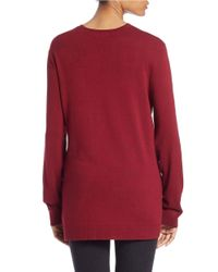 Lord & Taylor   Red Plus Open-front Cardigan   Lyst