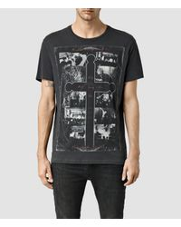 AllSaints | Black Clash Long Sleeve Polo Shirt for Men | Lyst