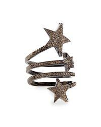 Siena Jewelry | Metallic Triple Star Diamond Ring | Lyst