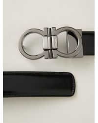 Ferragamo - Black Gancini Buckle Belt for Men - Lyst