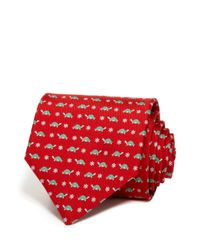 Ferragamo | Red Turtle And Floral Classic Tie for Men | Lyst
