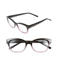 kate spade new york - Black 'amilia' 50mm Reading Glasses - Lyst