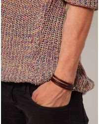 Seven London | Brown Leather Wrap Bracelet for Men | Lyst