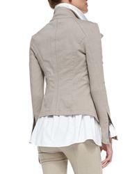 Donna Karan - Natural Stretch Denim Zip Jacket - Lyst