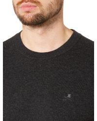 Label Lab - Gray Mccann Ribbed Shoulder Detailing Crew Neck Jumper for Men - Lyst