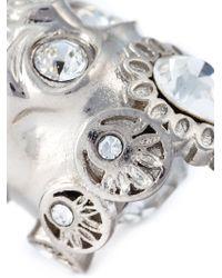 Alexander McQueen   Metallic Embellished Skull Ring   Lyst