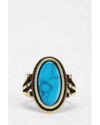 Urban Outfitters - Blue Oval Turquoise Ring - Lyst