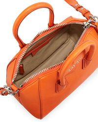 Givenchy - Orange Antigona Mini Goatskin Satchel Bag - Lyst