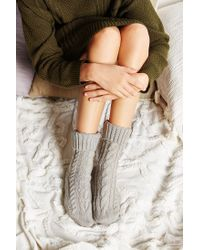 Hansel From Basel - Gray Cable Sock - Lyst