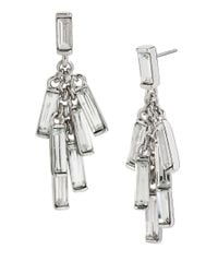 Kenneth Cole | Metallic Sparkled Baguette Shaky Earrings | Lyst