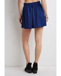 Forever 21 | Blue Classic Skater Skirt | Lyst