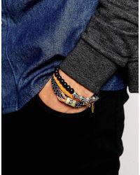 Icon Brand - Orange Random Tricks Skull Bracelet Pack for Men - Lyst
