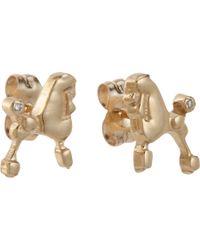 Bianca Pratt - Metallic Diamond Poodle Stud Earrings - Lyst