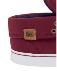 Beck & Hersey | Red Midtop Trainers for Men | Lyst