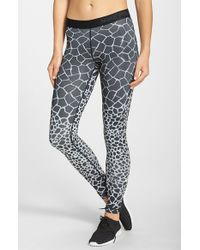 Nike | Black 'Pro' Print Dri-Fit Tights | Lyst
