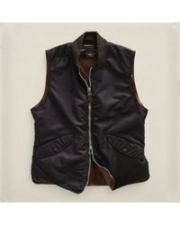 RRL - Black Flight Vest for Men - Lyst