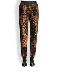 3.1 Phillip Lim Black Felted Jacquard Slim Pants
