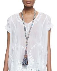Johnny Was | Multicolor Vintage Rose Georgette Top | Lyst