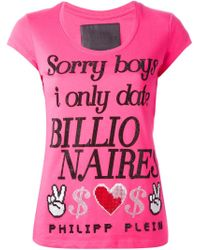 Philipp Plein | Pink 'sorry Boys' T-shirt | Lyst