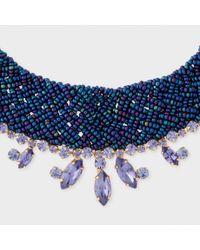 Paul Smith - Blue Women's Navy Beaded And Aqua 'cleopatra' Necklace - Lyst