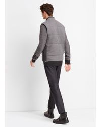 Vince - Gray Clean Knit Quilted Vest for Men - Lyst
