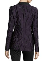 ESCADA - Purple One-button Shawl-collar Jacket - Lyst