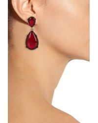 Kenneth Jay Lane | Red Gold-plated Resin Earrings | Lyst