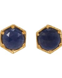 Cathy Waterman | Metallic Women's Hexagonal Studs | Lyst