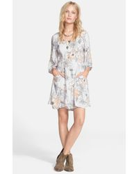 Free People - Gray 'Eyes On You' Trapeze Dress - Lyst