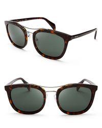 Prada - Brown Aviator Sunglasses - Lyst