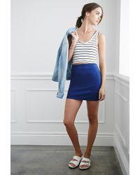 Forever 21 - Blue Classic Mini Skirt - Lyst