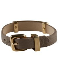 Marc By Marc Jacobs - Metallic Brown Standard Supply Leather ID Bracelet - Lyst