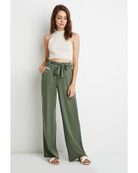 Forever 21 | Green Belted Wide-leg Pants | Lyst