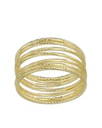 Lord & Taylor | Metallic 14k Yellow Gold Textured Tube Ring | Lyst