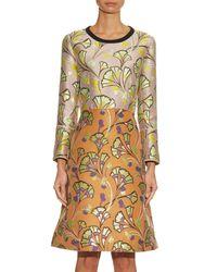 Marni - Orange Floral-Jacquard A-line Dress - Lyst