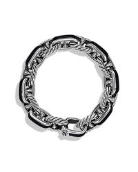 David Yurman - Black Maritime Anchor Link Bracelet for Men - Lyst