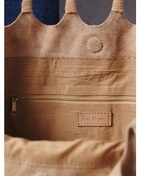 Free People - Natural Womens Decades Suede Tote - Lyst